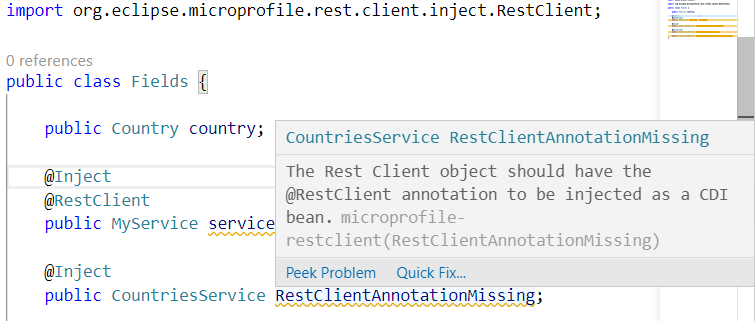 MicroProfile Rest Client Java diagnostics support
